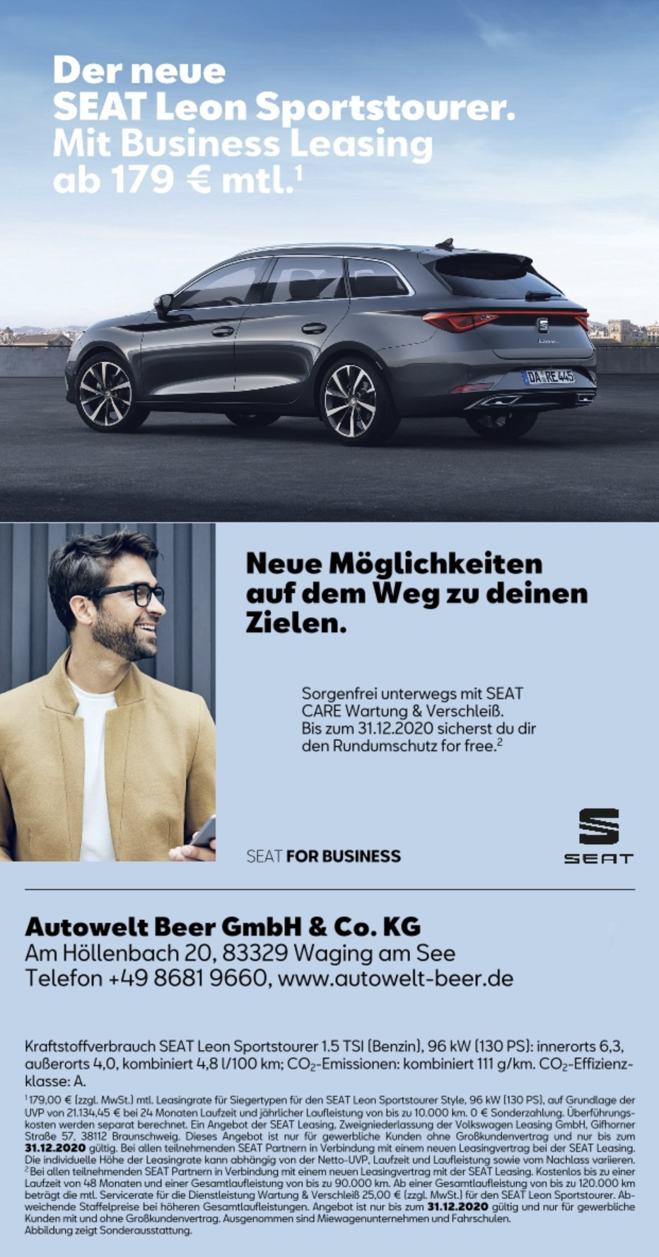 SEAT for Business: der Leon ST im Business-Leasing