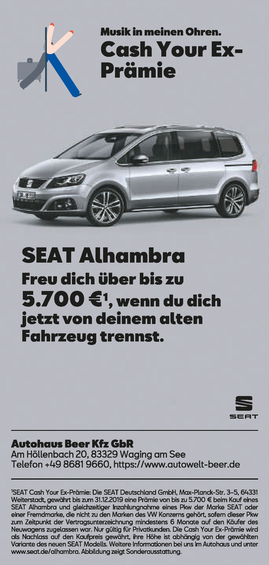 cash your ex seat alhambra